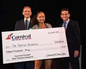 Singer Robin Barnes took first place and earned a $15,000 donation from Carnival Cruise Line for The Tipitina's Foundation.