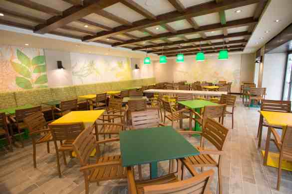Royal Caribbean International's Harmony of the Seas, the world's largest and newest cruise ship, previews in Southampton, UK. Park Cafe in Central Park.