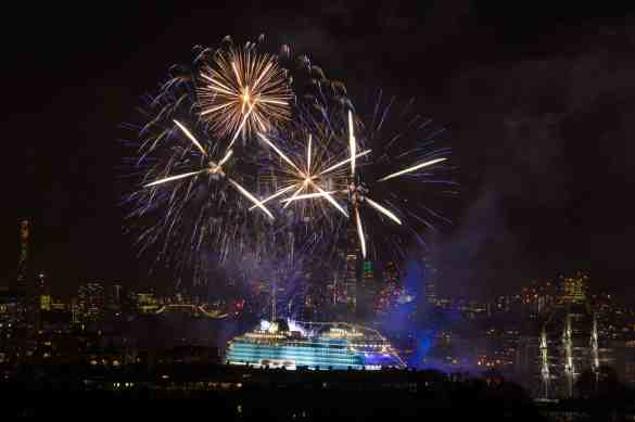"""Viking Sea Christening Ceremony  """"Viking Sea, officially a small ship, becomes largest ocean ship to be christened in London"""" """"Viking Cruises christens its second of six planned ocean ships in Greenwich"""" ,  Anthony Upton for Viking Cruises This image is copyright Anthony Upton 2016©."""