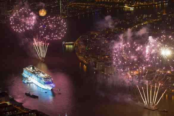"""""""Viking Cruises christens its second of six planned ocean ships in Greenwich"""" in London, Britain May 5, 2016"""