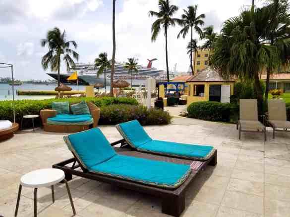 Comfy Chairs Poolside at the British Colonial Hilton - Nassau, Bahamas