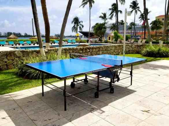 Ping Pong tables at British Colonial Hilton - Nassau, Bahamas