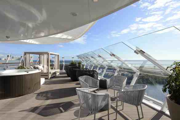 Iconic Suite Cat IC - Balcony - Room #12100 Deck 12 Forward Starboard Celebrity EDGE - Celebrity Cruises