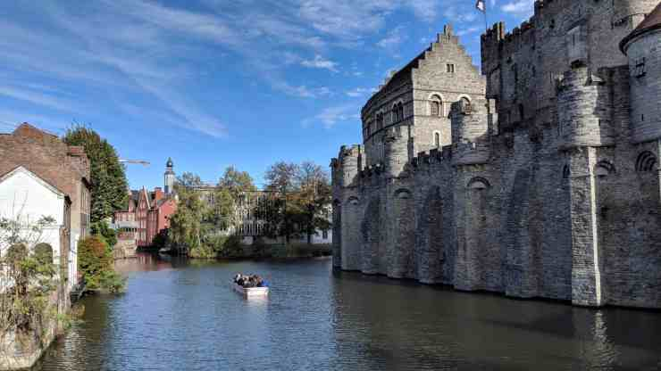 Gravensteen Castle in Ghent, Belgium