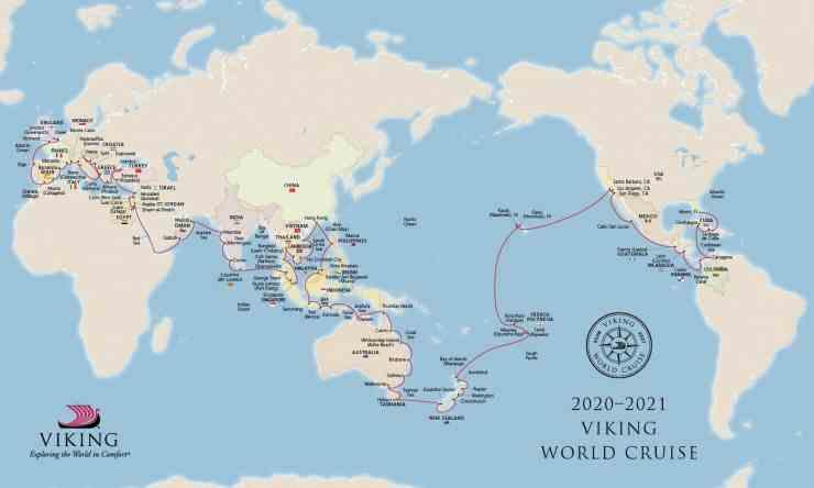 Viking 2020-2021 World Cruise itinerary