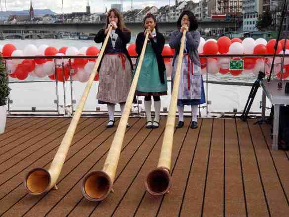 Swiss Alpine Horn Players