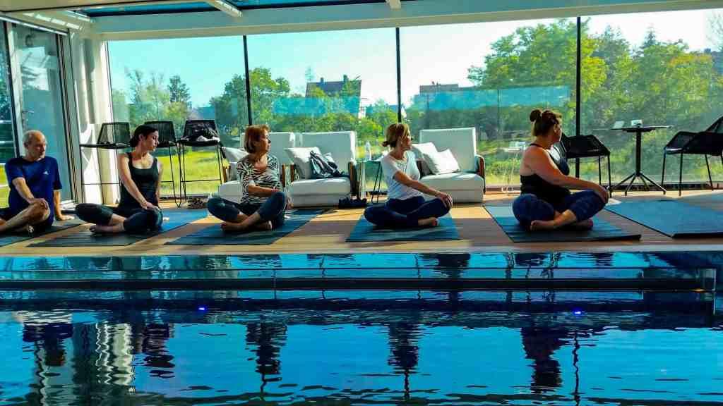 Yoga Class available aboard Emerald Destiny