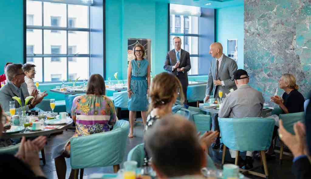 Cunard Sets Sail for 4th Annual Transatlantic Fashion Week with Breakfast at Tiffany's Blue Box Cafe