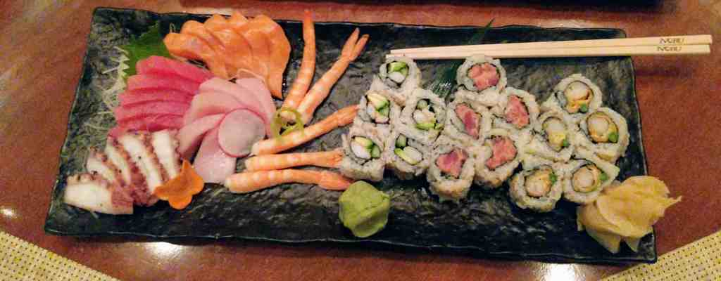 A colorful platter at Umi Uma and Sushi Bar