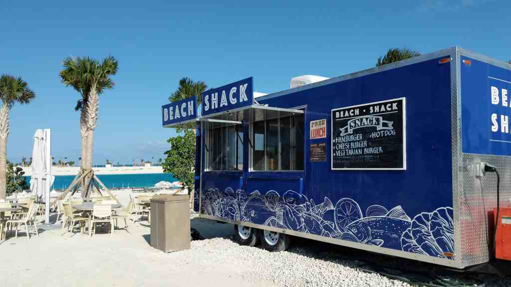 A food truck at the Ocean Cay MSC Marine Reserve