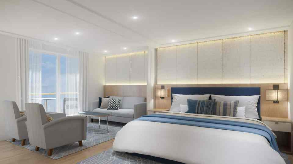 Rendering of the Viking Mississippi - Junior Suite