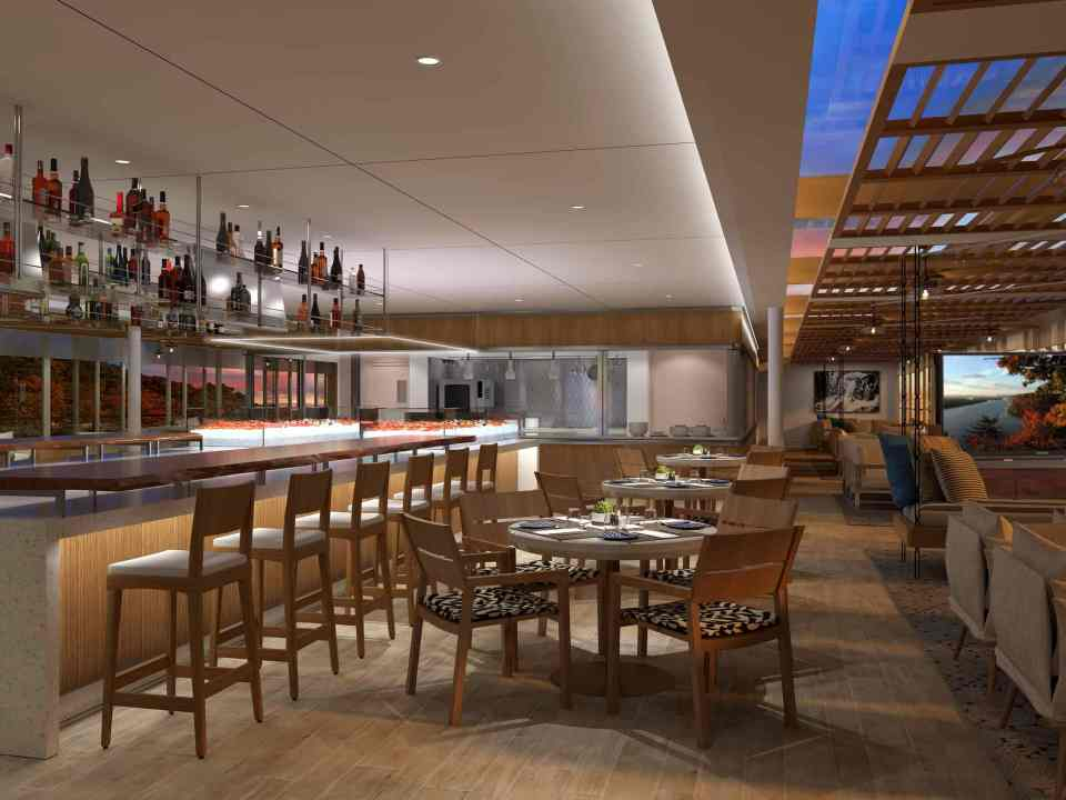 Rendering of the Viking Mississippi - River Cafe