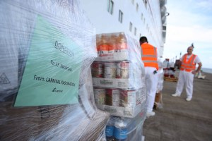 Carnival Cruise Ship Delivers Water and Food Supplies for St. Maarten
