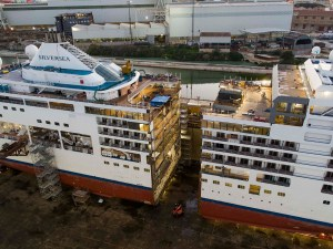 Cruise Ship Cut in Half and Lengthened