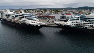 Azamara's Newest Cruise Ship Meets Sister Ship on Maiden Voyage