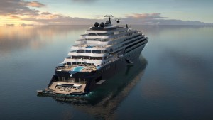 Ritz Carlton's First Cruise Ship Touches Water for the First Time
