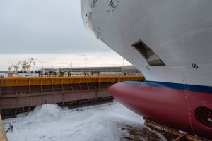 Carnival Cruise Line's 3rd Vista Class Ship Touches Water for the First Time