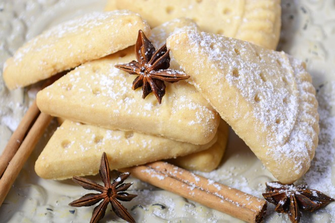 Festive Christmas Holiday Shortbread