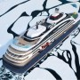 Rendering - Luxus-Eisbrecher durchbricht Eisdecke - Luftansicht