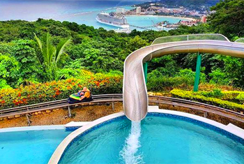 Mystic mountain water slide