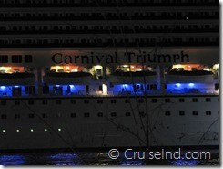 carnival triumph sailing into mobile