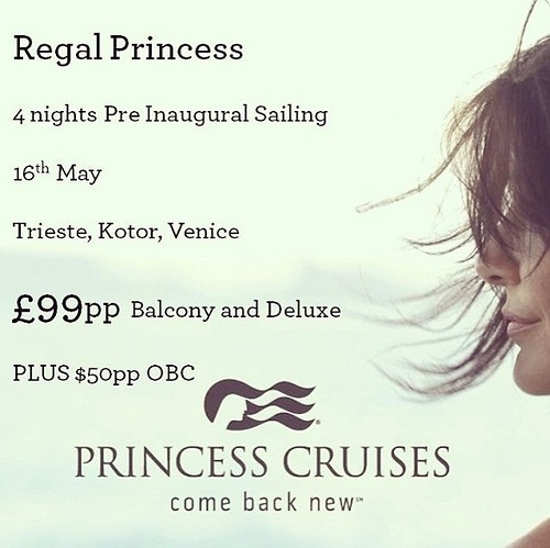 Invitation to Regal Princess Cruise