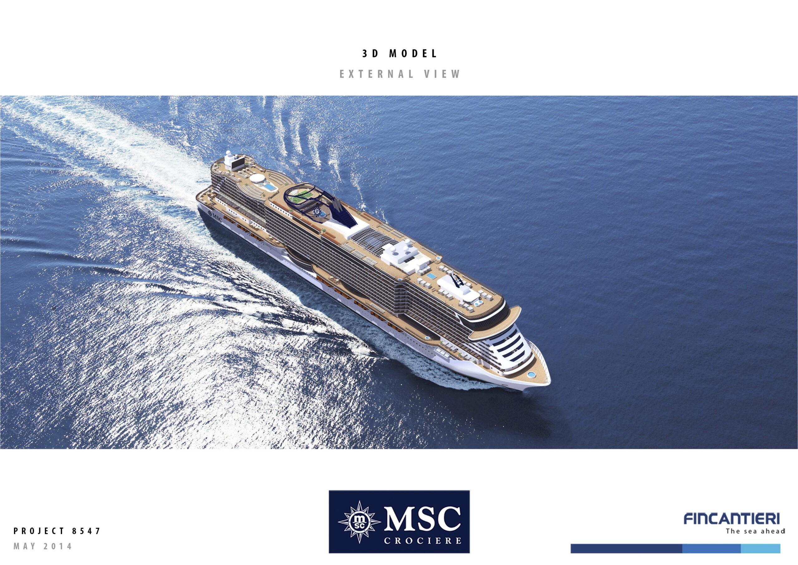 Msc Orders Fincantieri S Project Mille Prototype Cruiseind