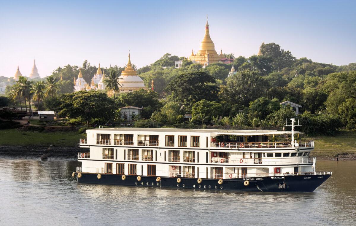 Et flod cruise i Myanmar med det charmerende skib Sanctuary Ananda