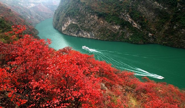 Flod cruises i Kina på Yangtze floden