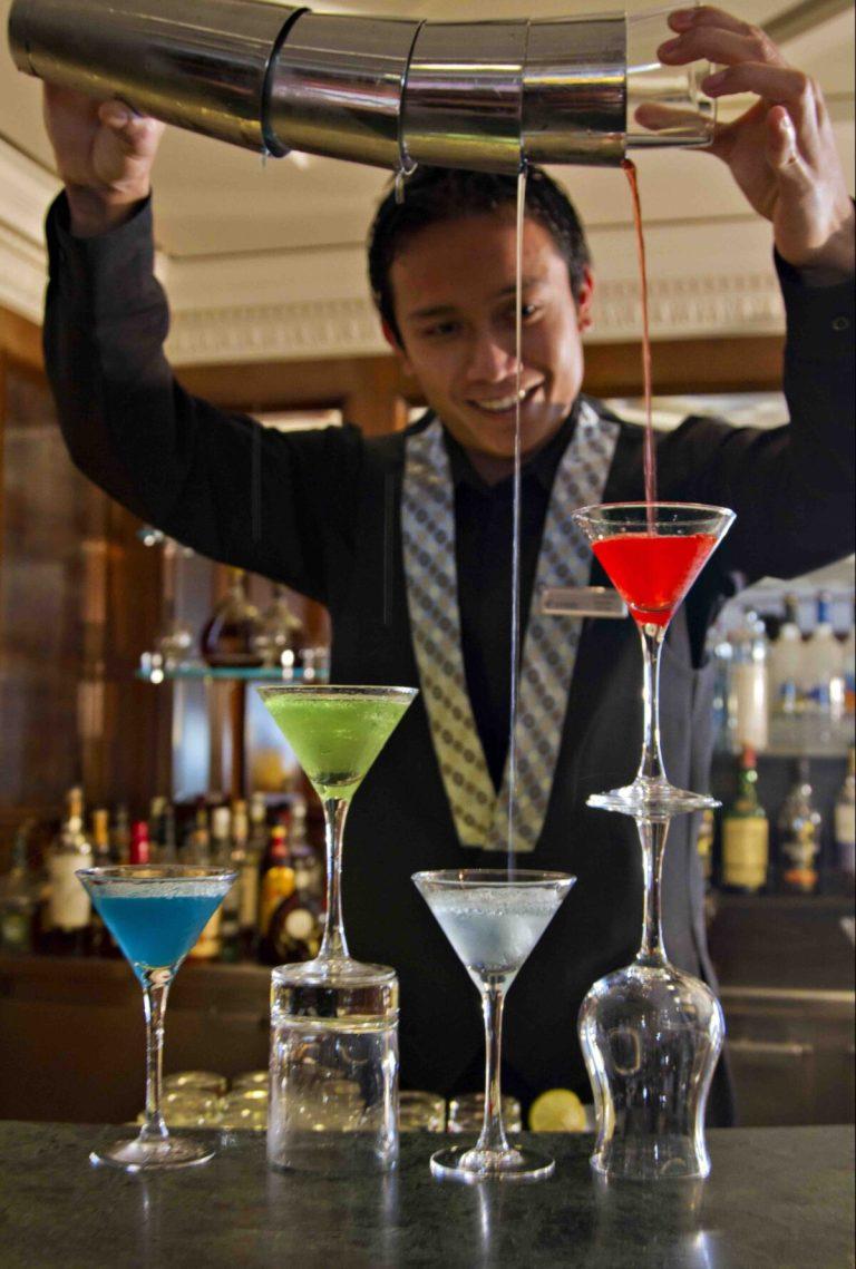 Baren med lækre drinks