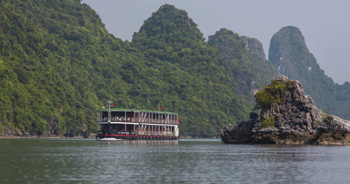 Pandaw Expeditions flod cruise på Red River i Vietnam