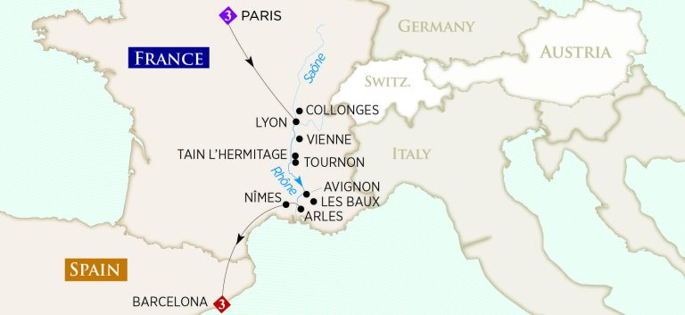 Rhône floden i Frankrig
