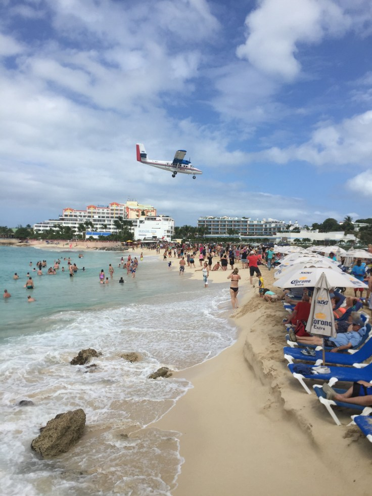 Aeroplane Beach is popular with tourists so arrive in the morning to get the best spot. Maho Beach is not very big.