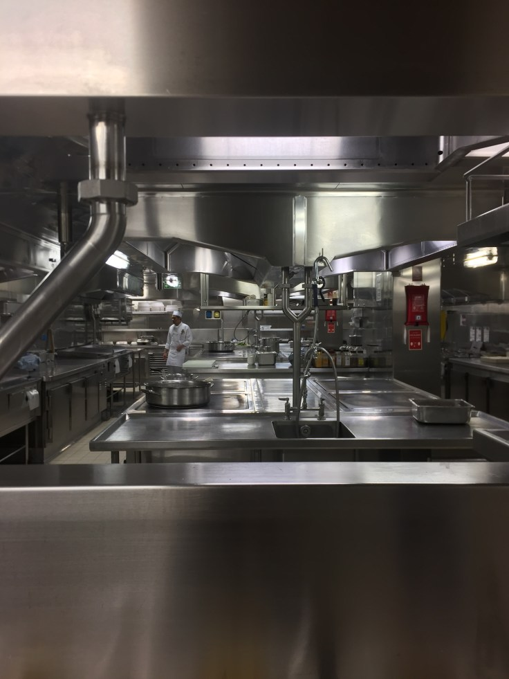 The galley was spotlessly clean on the Regal Princess, we visited mid-morning during a quiet time for the kitchen staff.