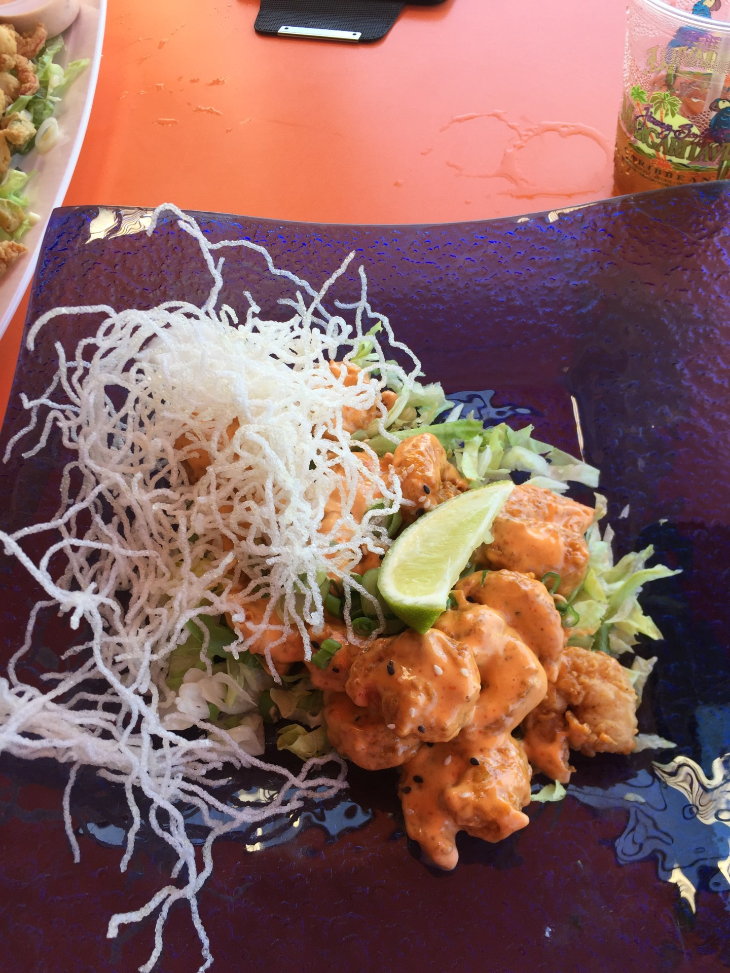 Lava Lava Shrimp from Margaritaville's appetizer menu.