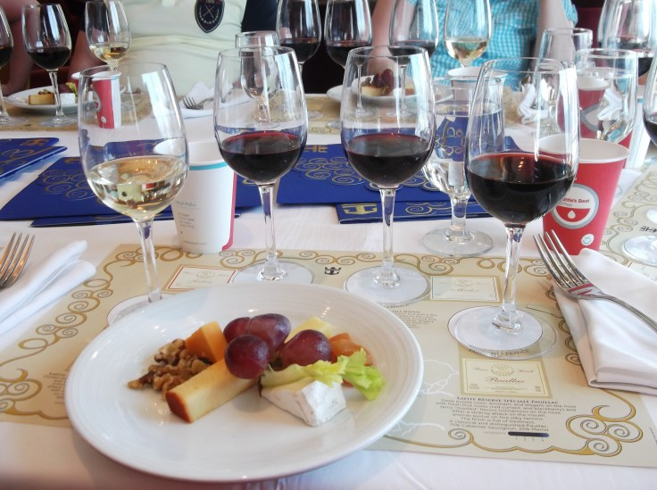 Wine tasting on a Royal Caribbean cruise