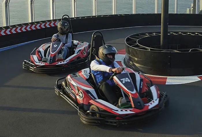 Norwegian cruise line go kart