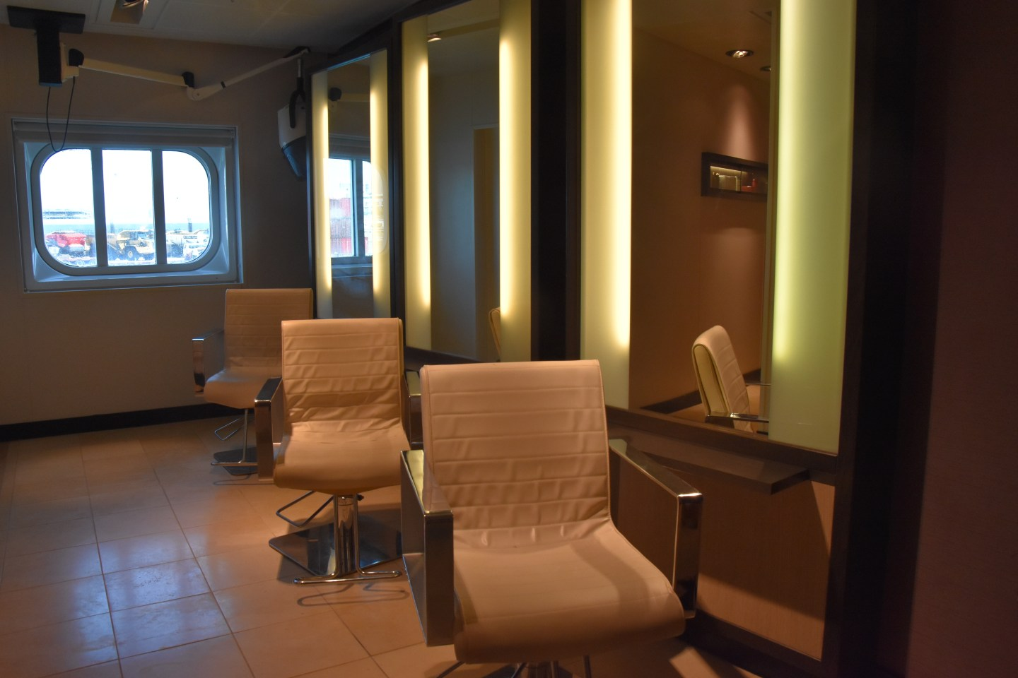 The hair salon on Royal Princess