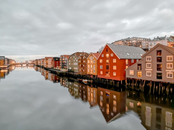 The pretty wooden houses in Bakklandet