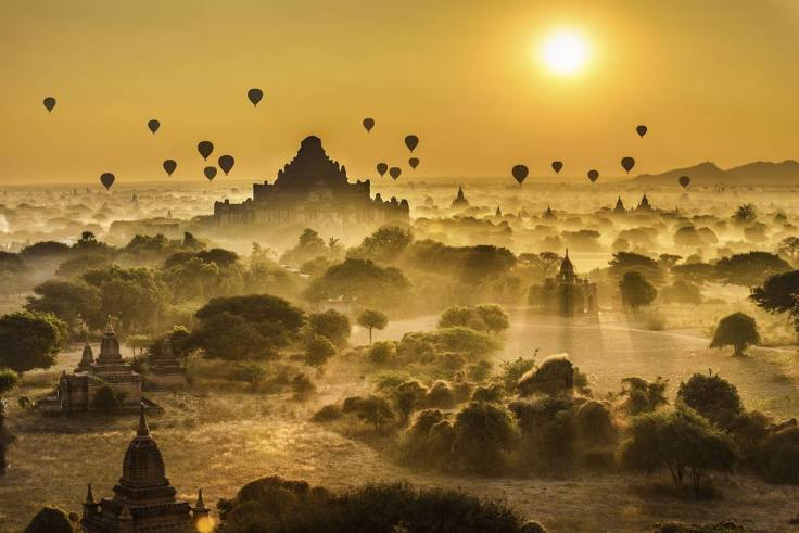Balloon rides over Bagan Temples, Myanmar, photo credit: Emerald Waterways