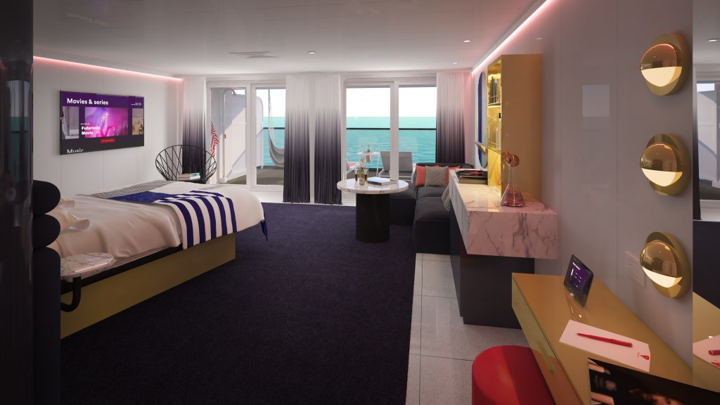Virgin Voyages drinks are included in a Rockstar Suite
