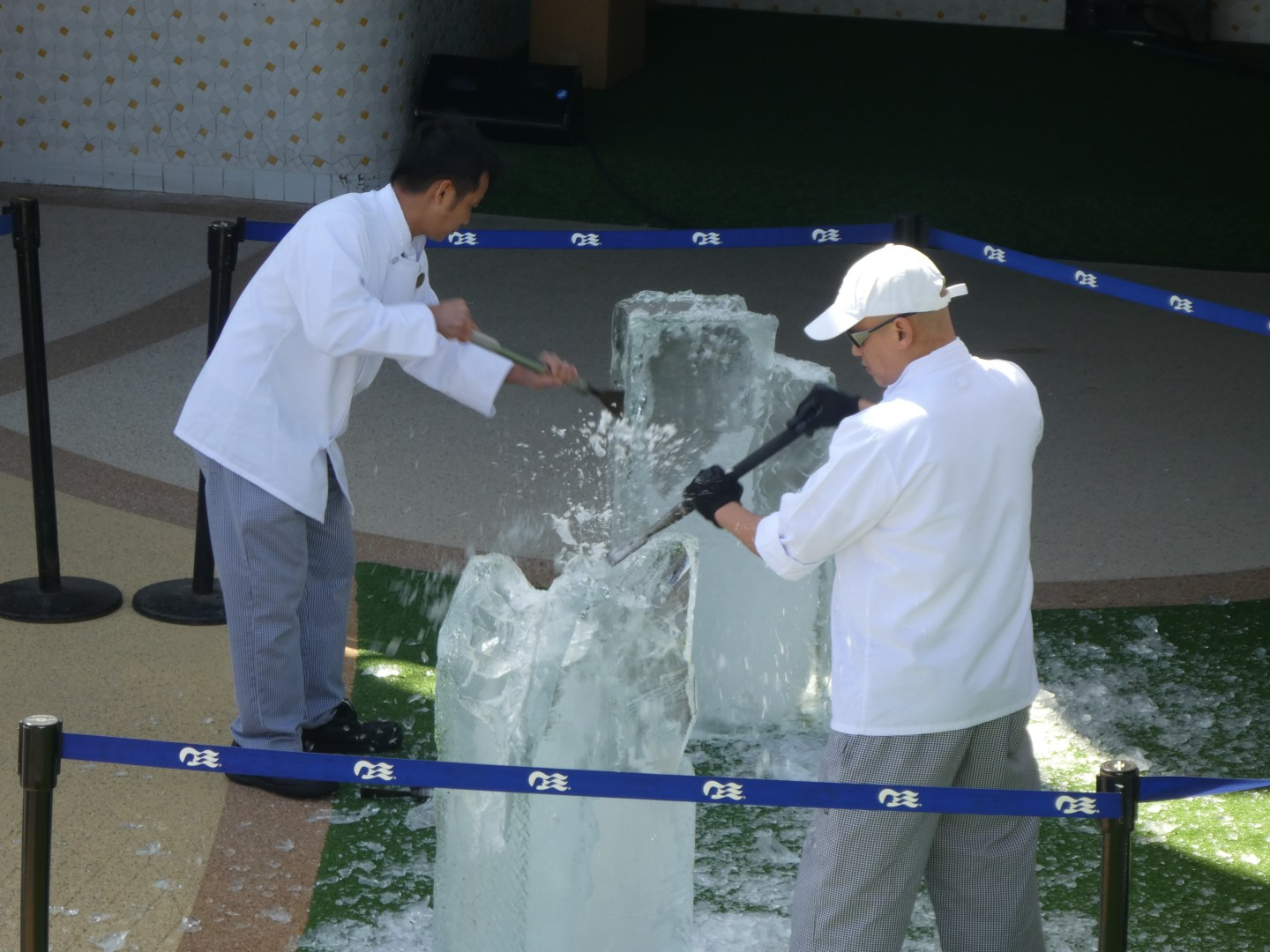 my perfect sea day ice carving