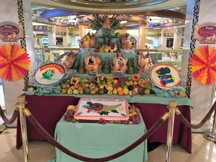Thanksgiving buffet Princess Cruises