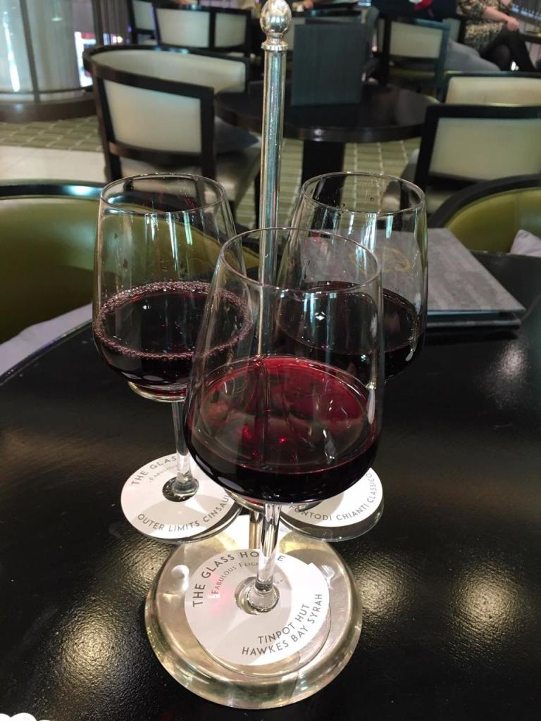 wine flight Glass House