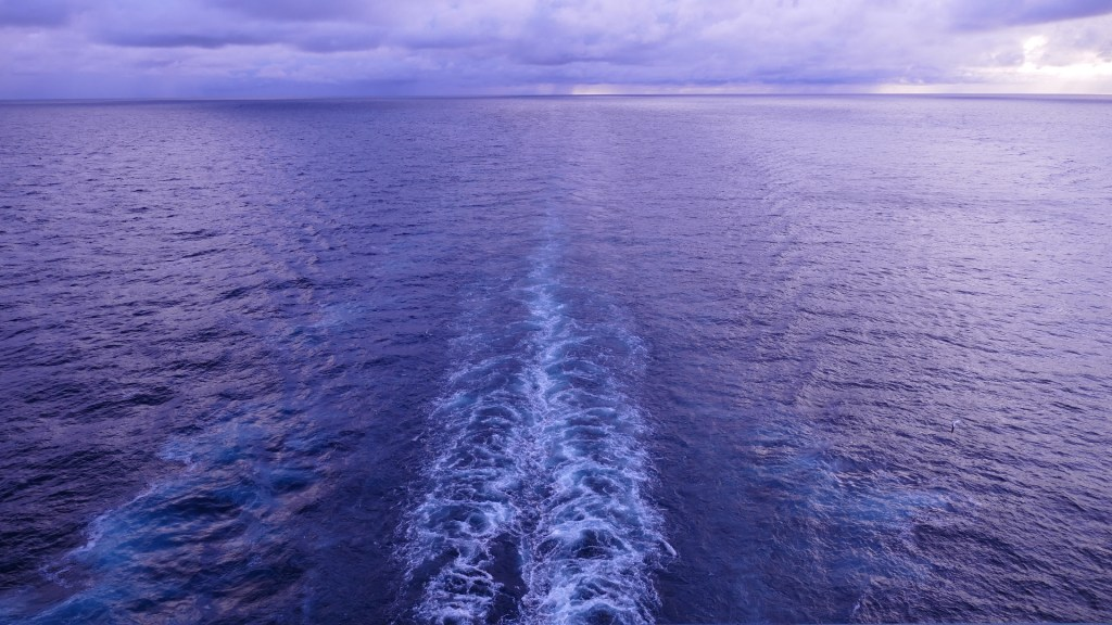 cruise ship wake view