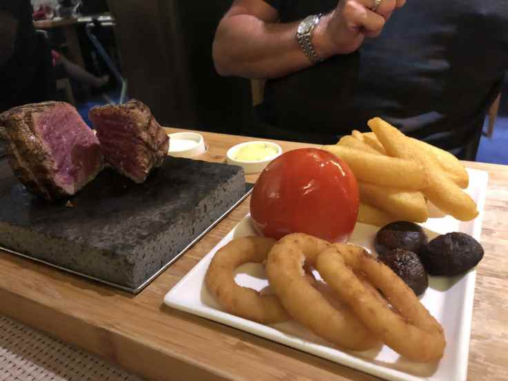 cook your own beef fillet on a lava rock