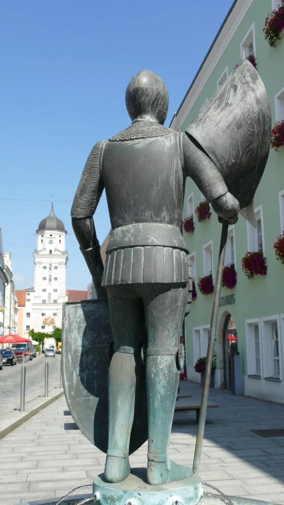 ritter alain knight sculpture vilshofen