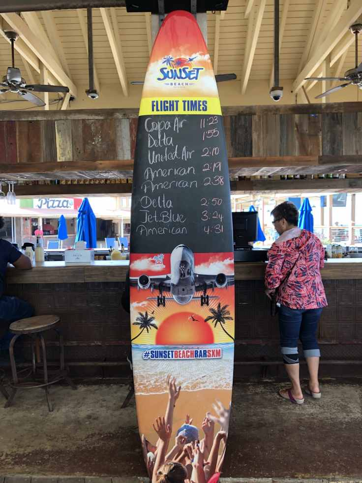 Sunset bar and grill aeroplane board