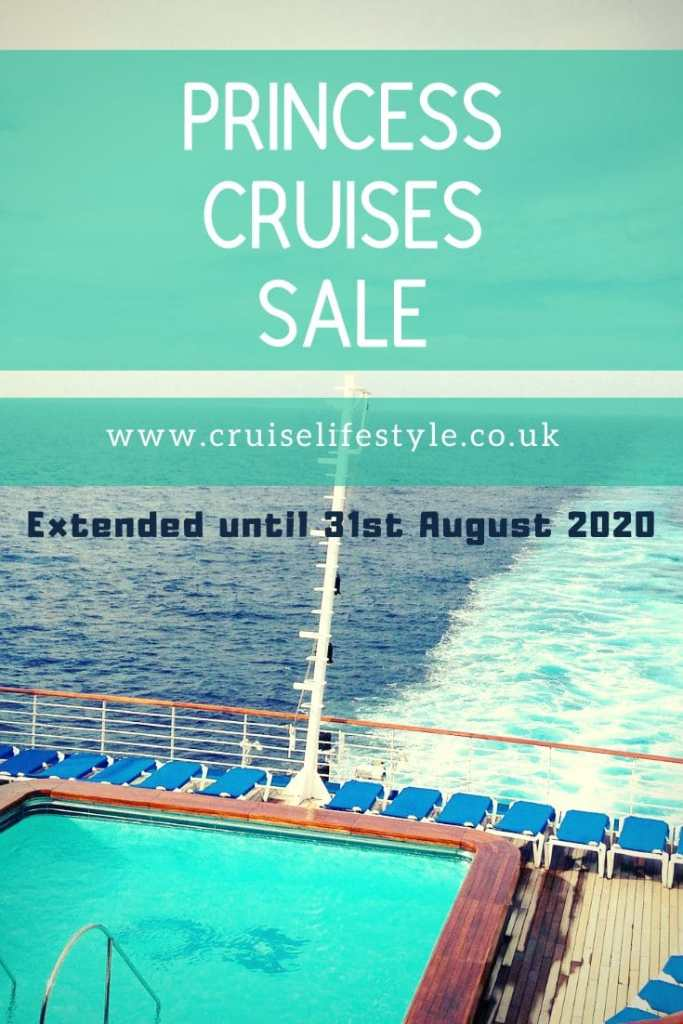 The Princess Cruises Sale is now extended until 31st August 2020