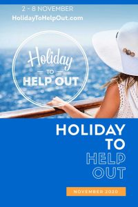 Get ready for Holiday to Help Out this November to take advantage of cruise deals whilst supporting U.K. travel agents.